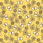 Aunt Grace Minatures - yellow print
