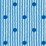 Aunt Grace Ties One Om- blue stripe with blue dots