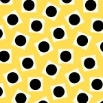 Aunt Grace Ties one on - yellow with black circles