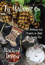 Tis Hallowe'en - counted cross-stitch stockings