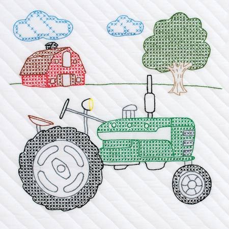 Embroidery Blocks - Tractor
