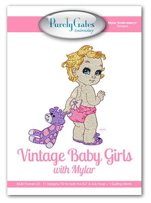 Vintage Baby Girls - Machine Embroidery