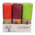 Curlers - 4 x 16 inches - hand dyed wool - various colors