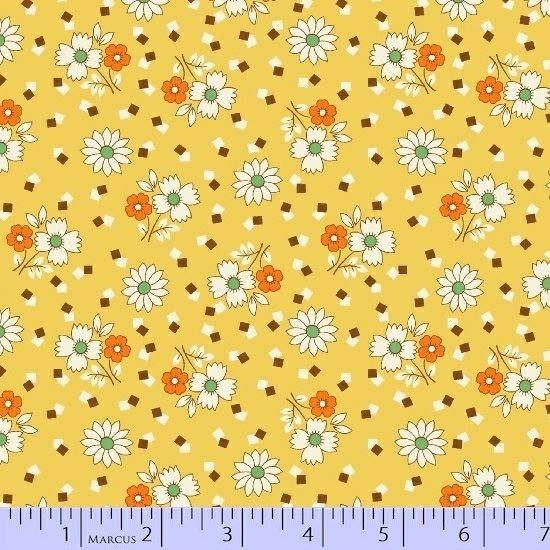 Aunt Grace - yellow with flowers