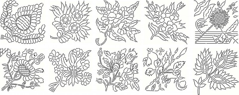 Peony Quilt Historic Stencils 1863