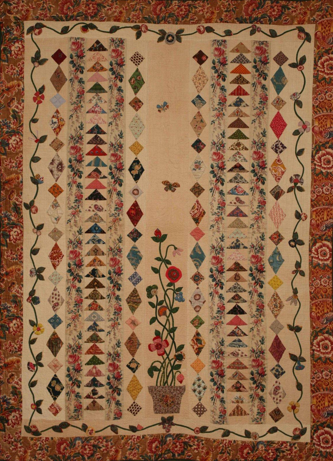 The Flowerpot Quilt pattern