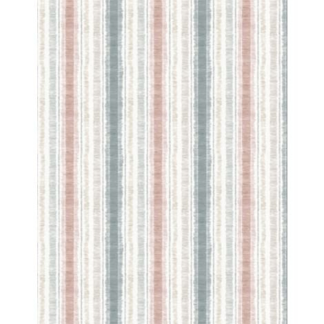 Wilmington A Country Weekend Stripe - White/Teal/Salmon