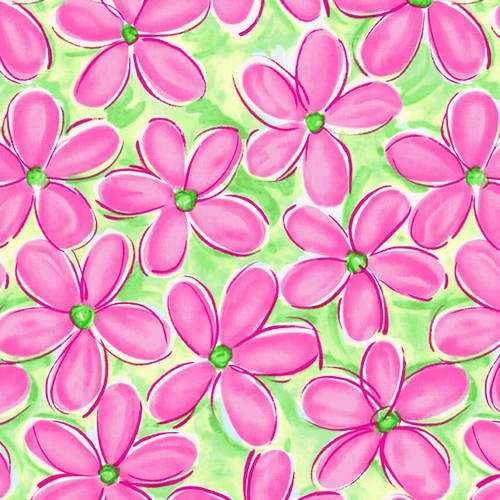 Blank Whimsey Daisical Daisies - Pink/Lime