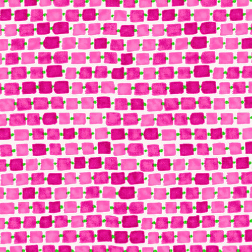 Blank Whimsey Daisical Linked Rectangles - Pink