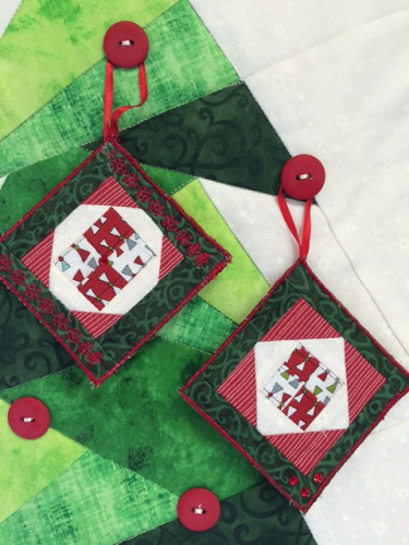 - Paper-Pieced Mini Christmas Ornaments
