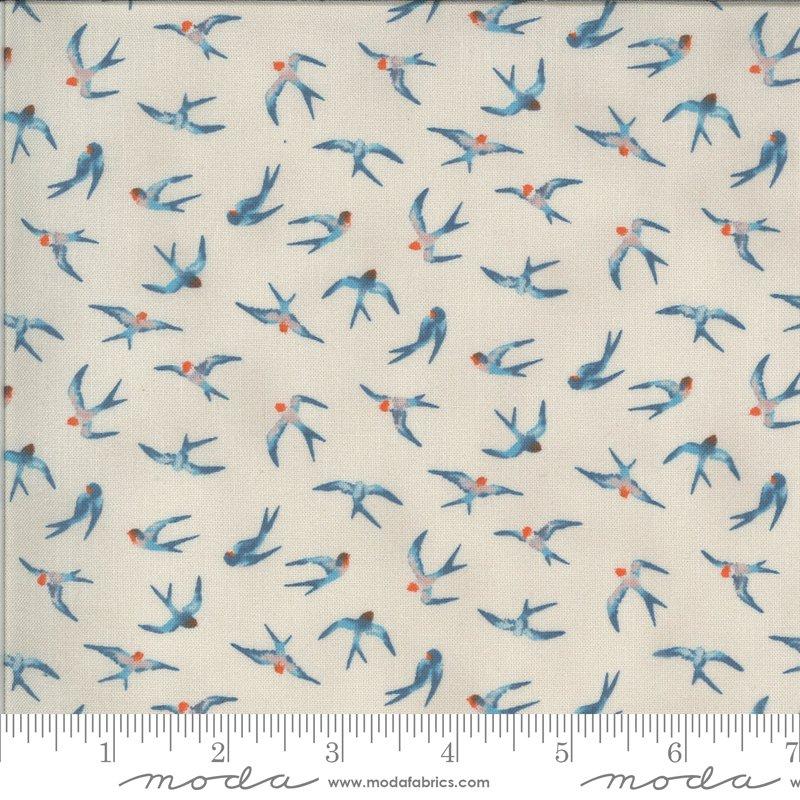 Moda Lulu Birds in Flight - Linen