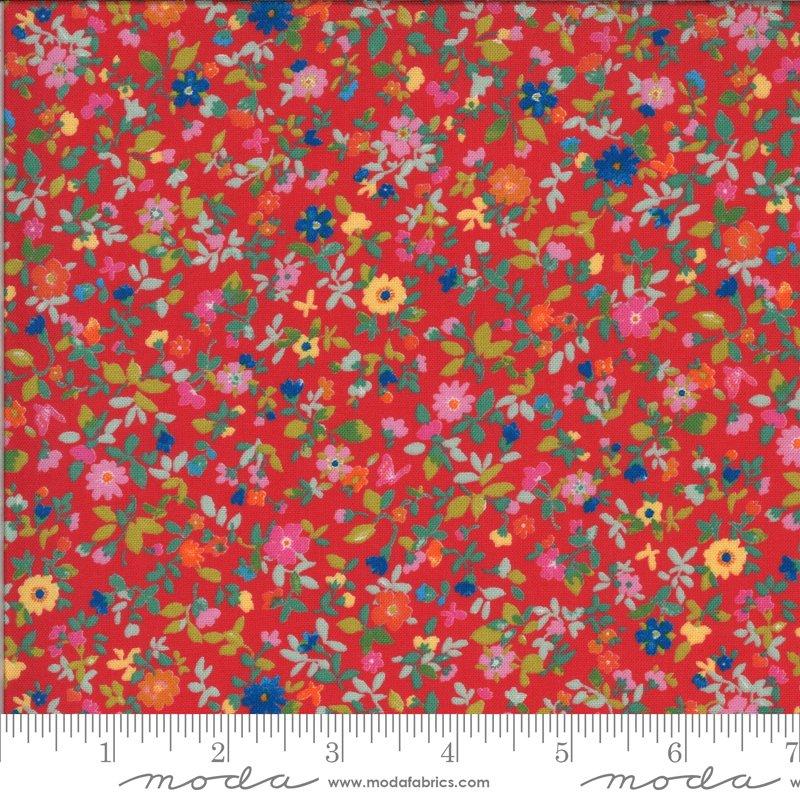 Moda Lulu Small Floral - Geranium/Multi