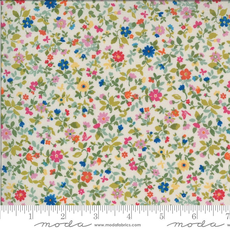 Moda Lulu Small Floral - Linen/Multi