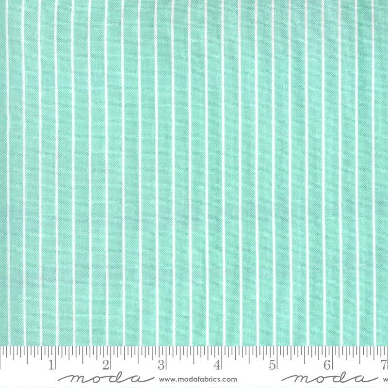 Moda Sunday Stroll Stripe - Aqua