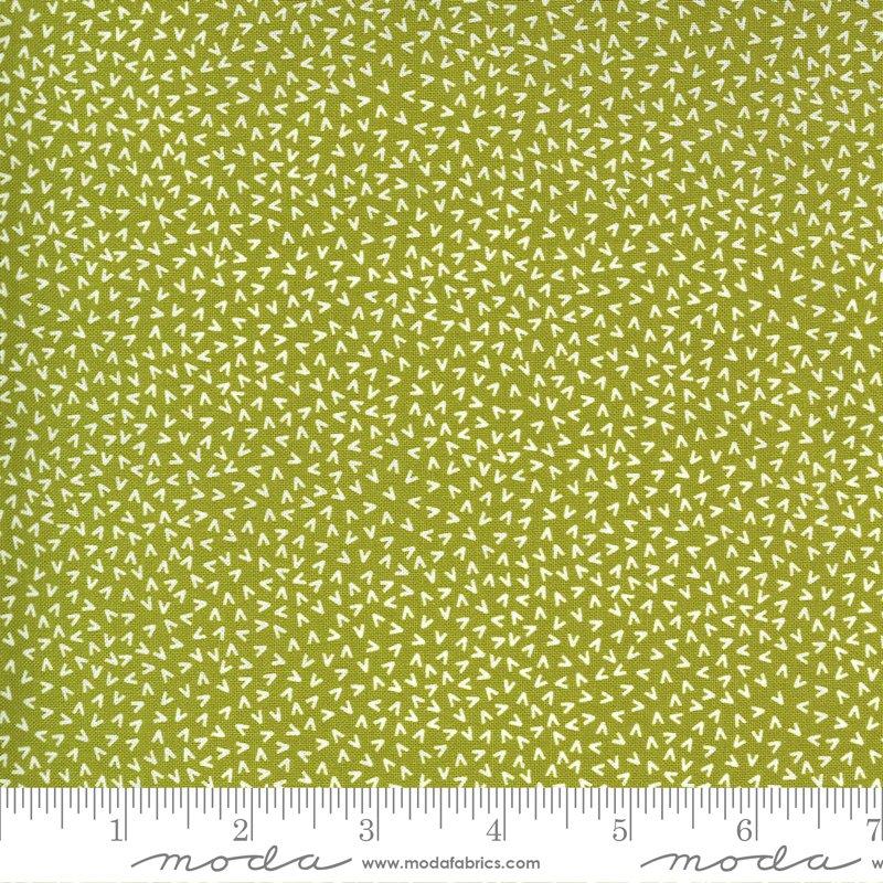 Moda Spring Chicken Tracks - Green