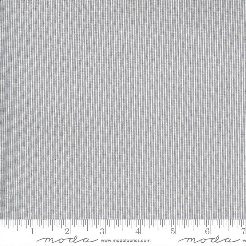 Moda Spring Chicken Stripe - Grey