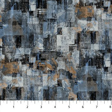 Northcott City Lights Large Texture Block - Dark Grey