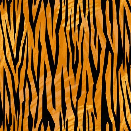 Quilting Treasures Tiger Tails Tiger Skin - Burnt Orange