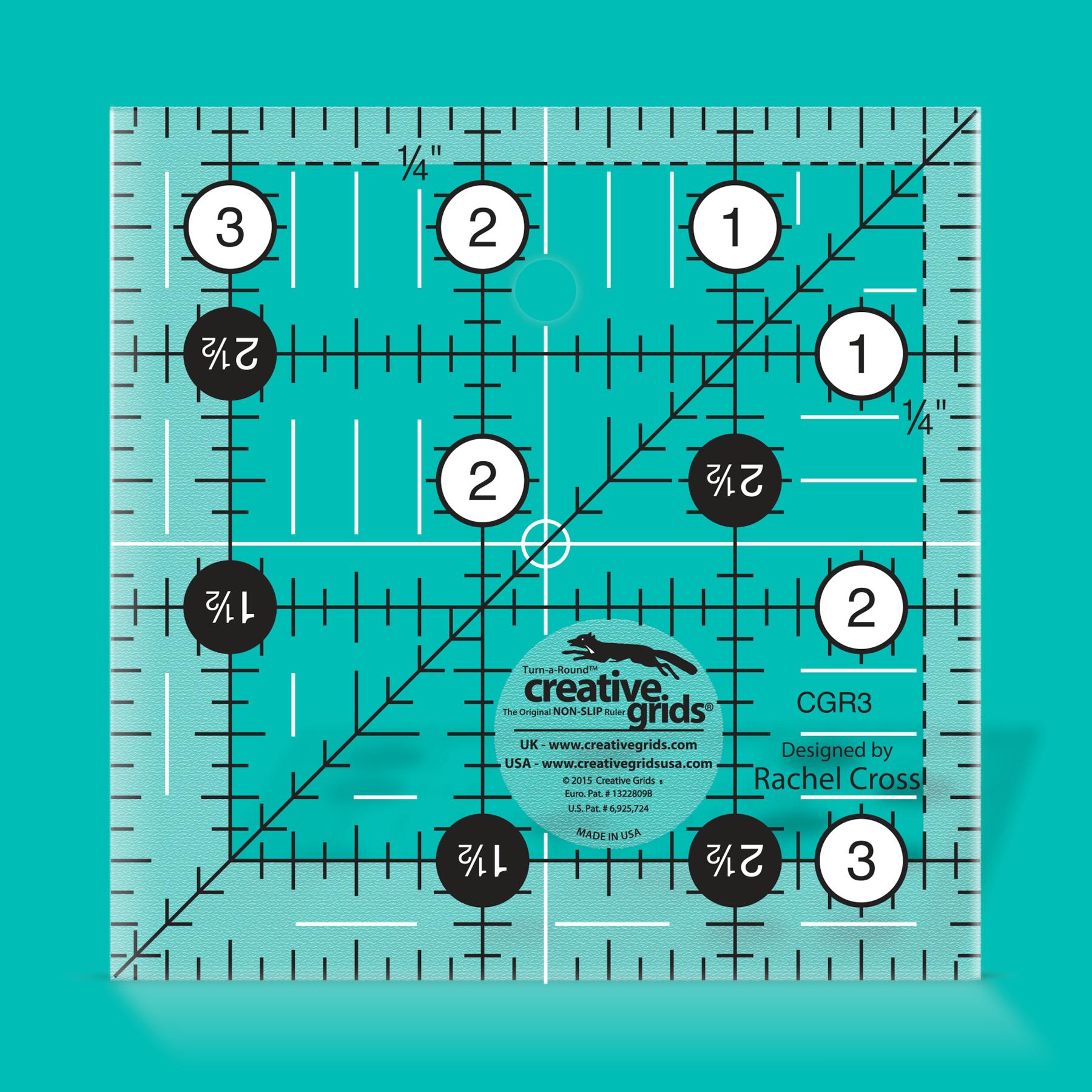 Creative Grids Ruler - 3.5 Square