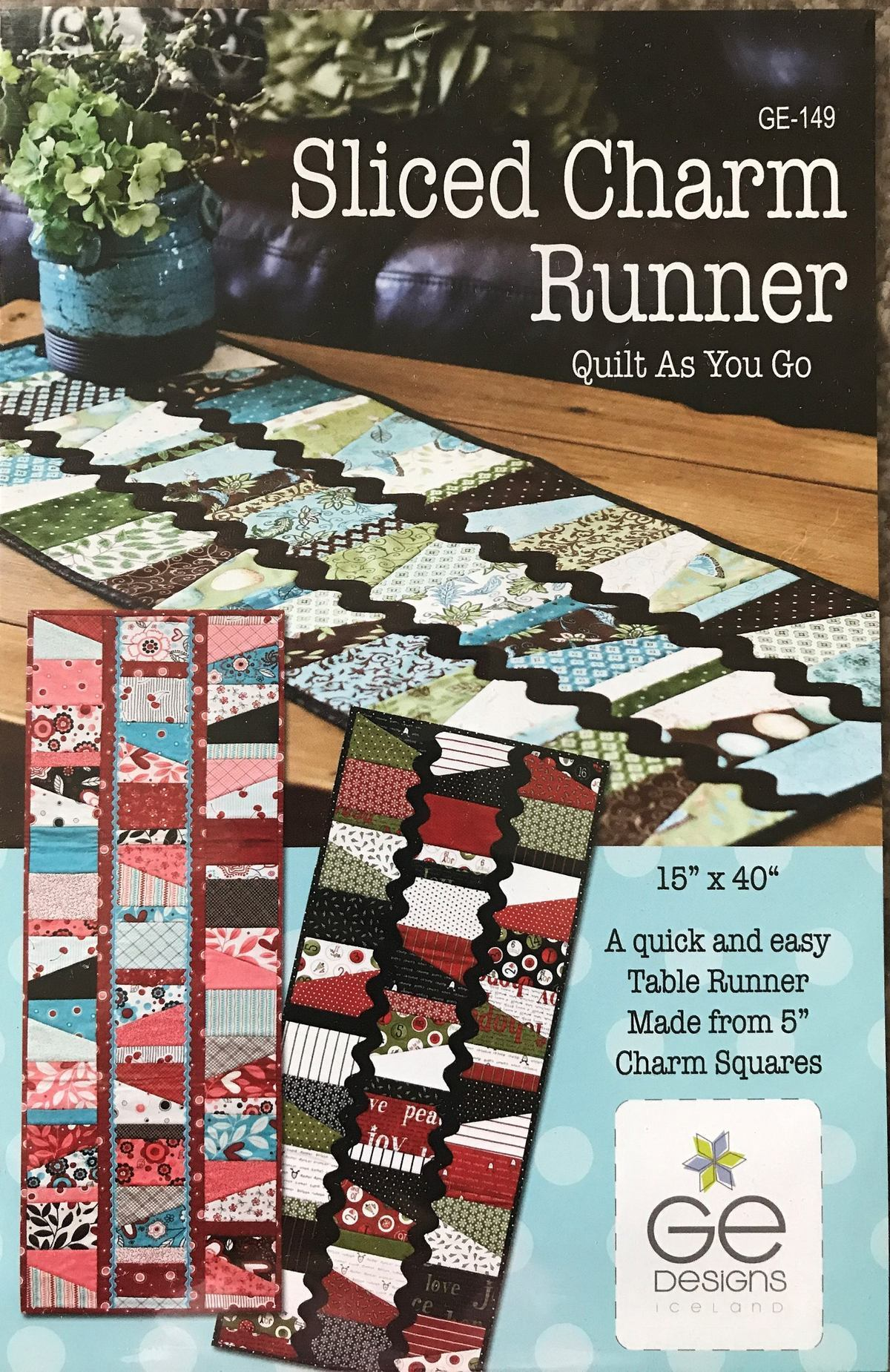 GE Designs Sliced Charm Table Quilt As You Go Table Runner Pattern