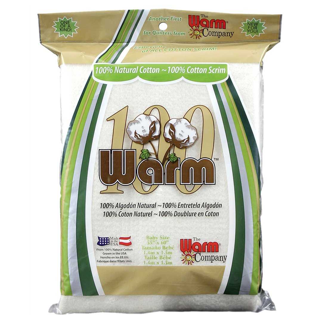Warm 100 Cotton Batting - 55x60 - Local Delivery or Pickup Only