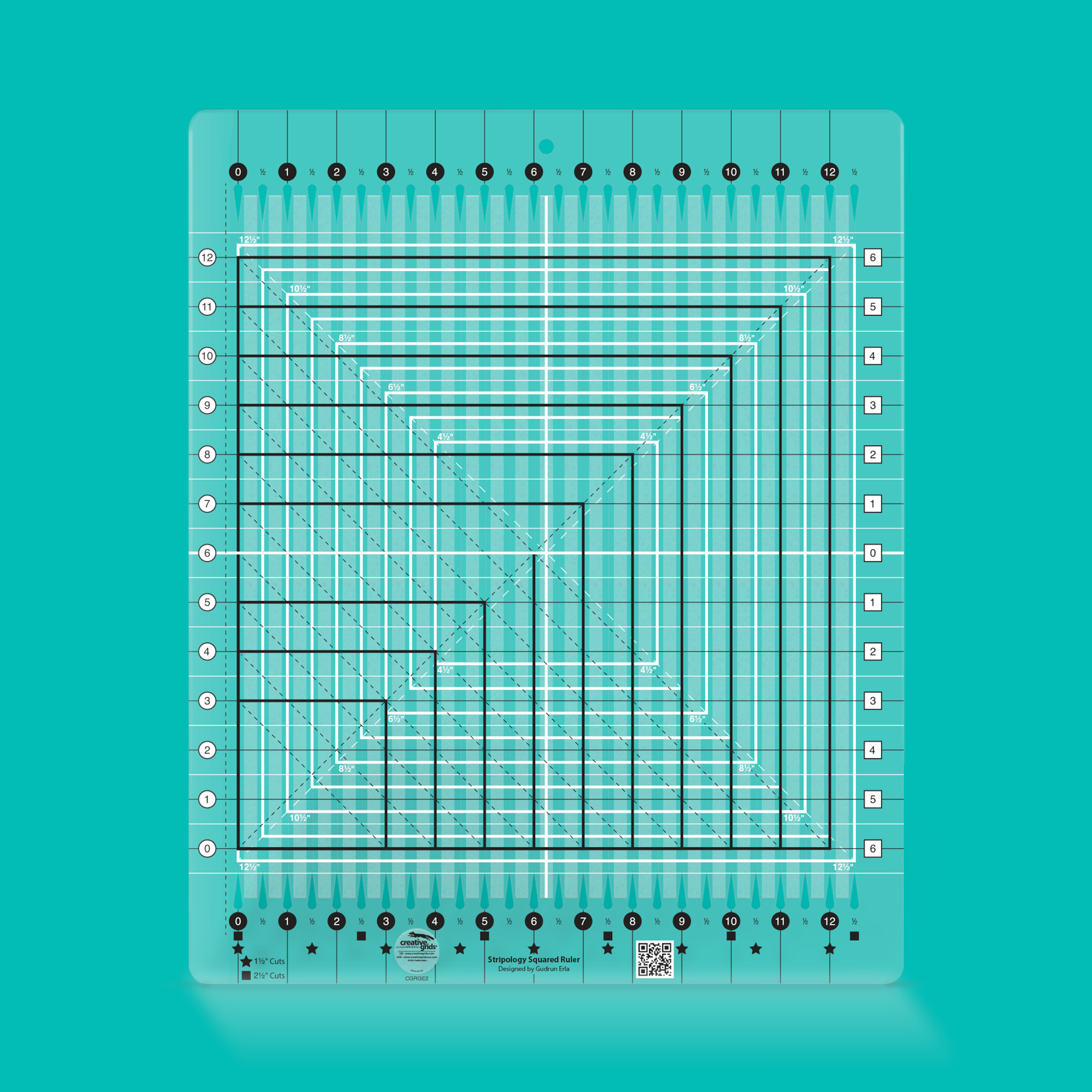 Creative Grids Ruler Stripology Squared (Curbside Pickup Only)