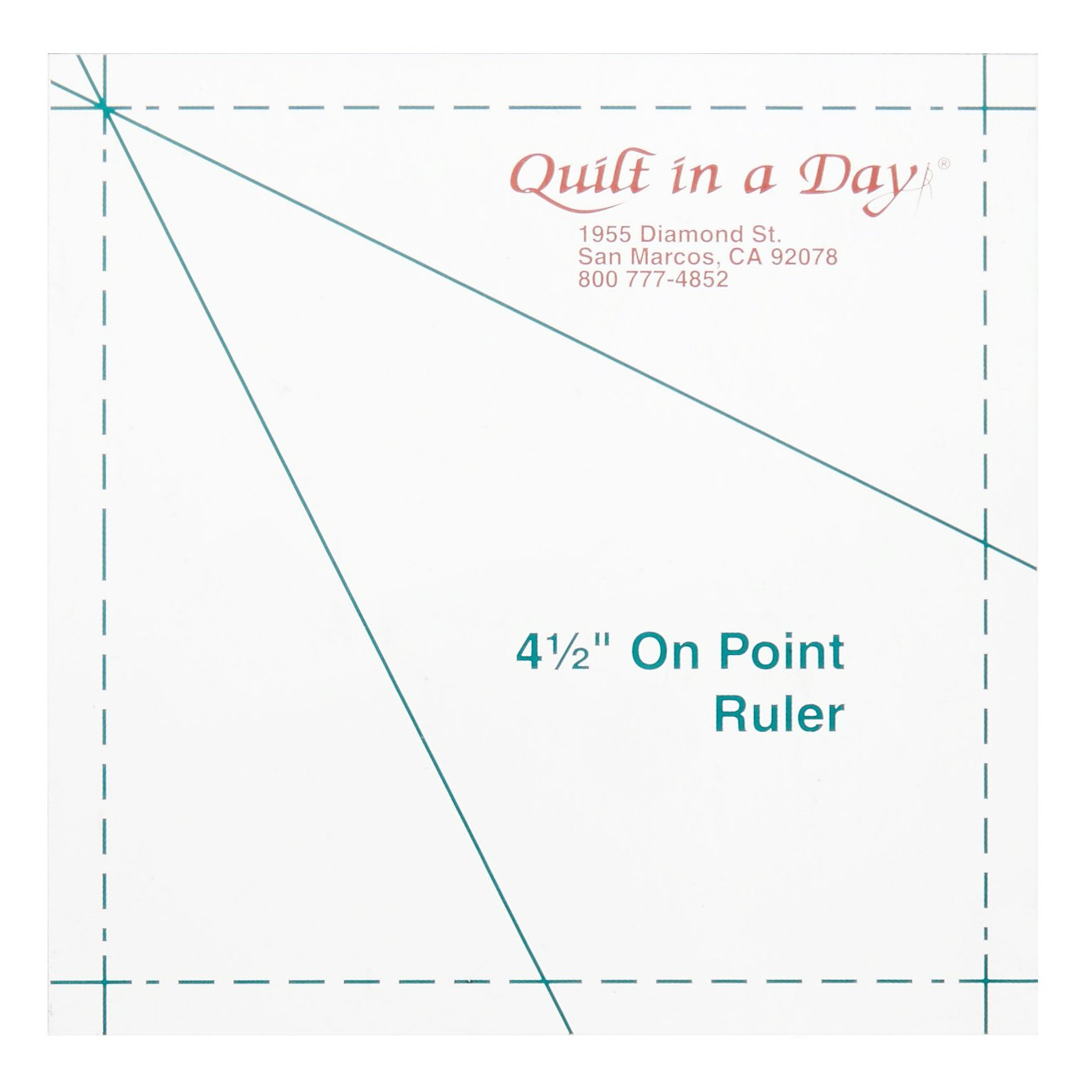 Quilt in a Day On Point Ruler - 4.5