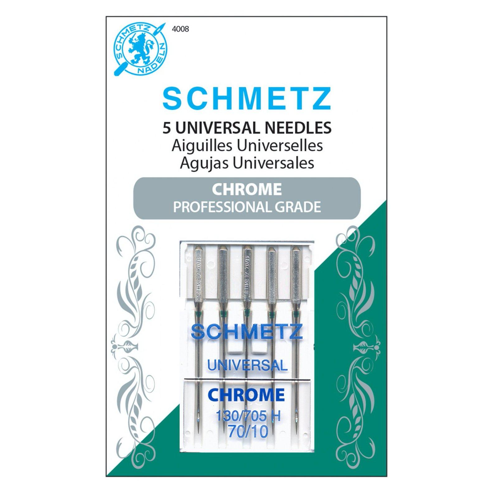 Schmetz Machine Needles Chrome Universal - Size 70/10