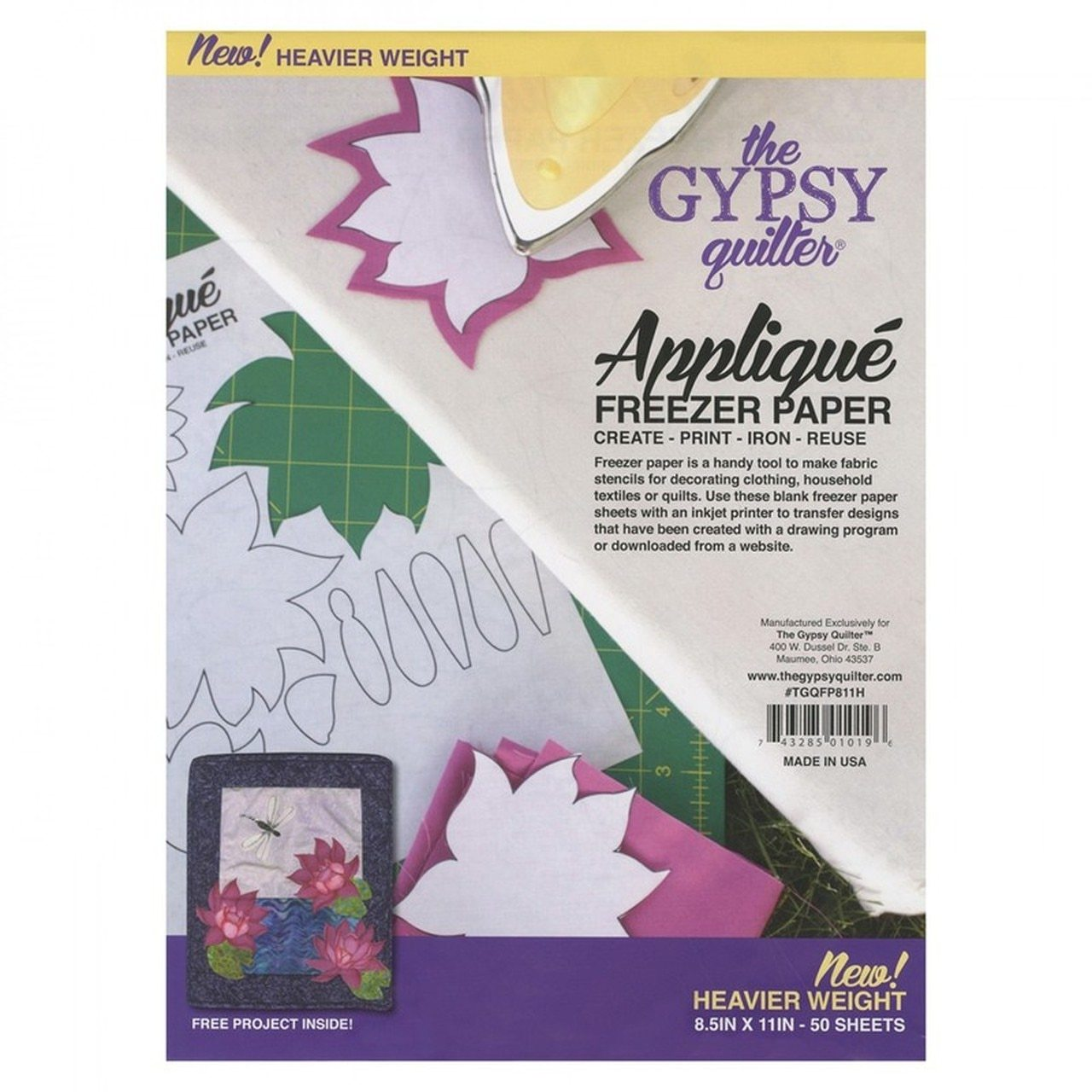 Gypsy Freezer Paper - 50 Sheets, 8.5 x 11