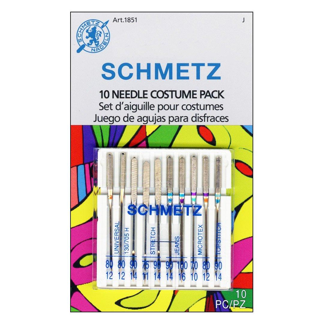 Schmetz Machine Needles Costume Pack - Assorted sizes, 10 Pack