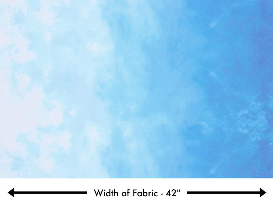 Robert Kaufman Sky - Powder (Ombre)(0.8m remnant)