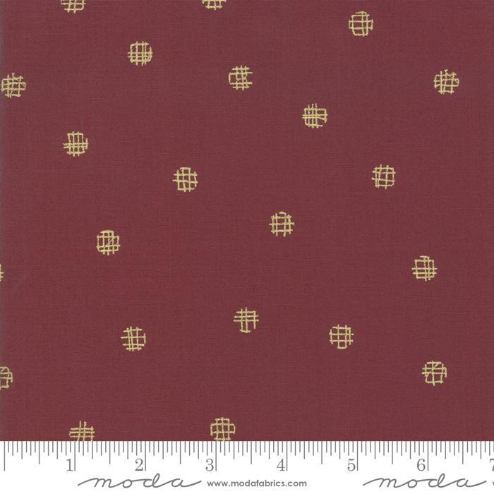 Moda Just Red Dots - Merlot (Metallic) (Min. 1 metre cut)