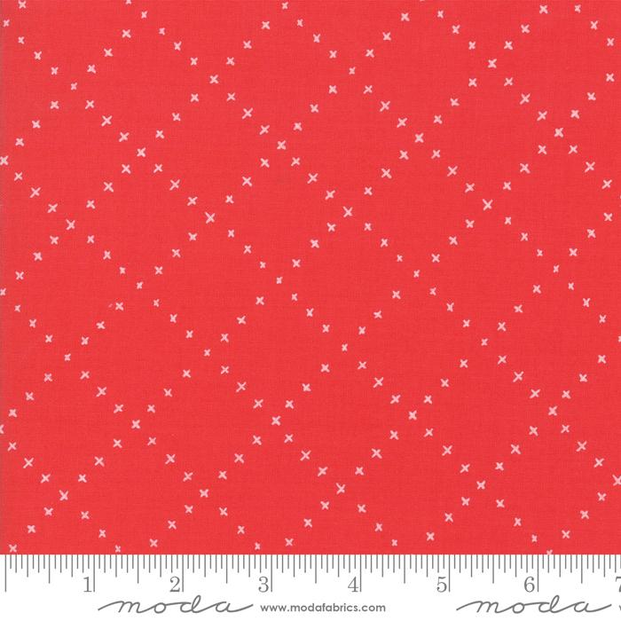 Moda Farm Charm Plusses - Rooster Red