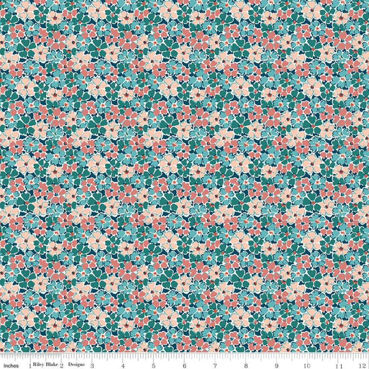 Liberty Winterbourne Primula Posey - Teal