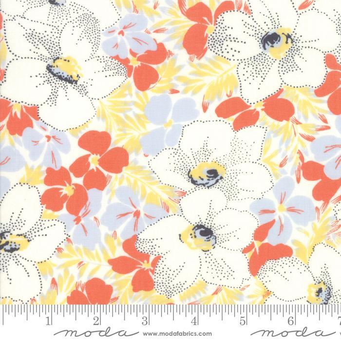 Moda Fine and Sunny Floral - Mango Cream