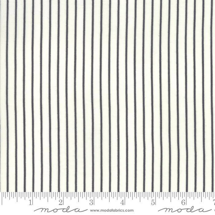 Moda Fine and Sunny Stripe - Charcoal