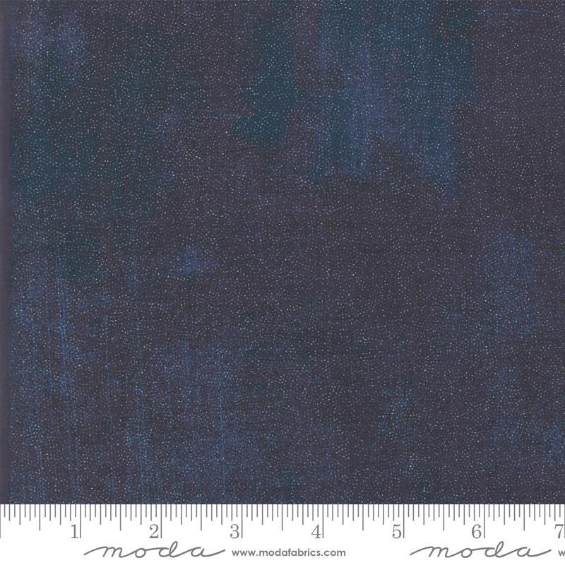 Moda Glitter Grunge - Peacoat (Metallic)