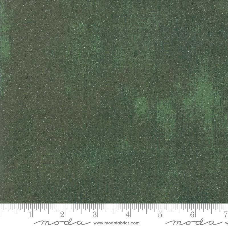 Moda Glitter Grunge - Winter Spruce (Metallic)