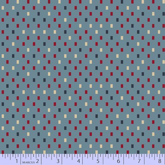 Marcus Blue Meadow Rectangles - Light Blue (Minimum Order 1 metre)