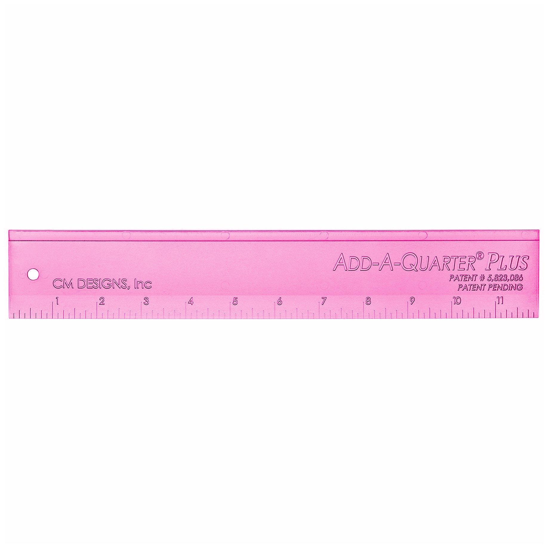CM Designs Add-A-Quarter Plus Ruler - 12