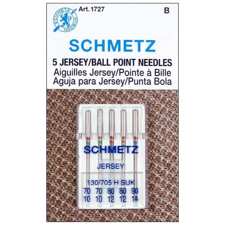 Schmetz Machine Needles Jersey (Ballpoint)  - Assorted Sizes