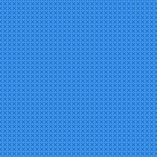 Andover Cross Stitch X's - Kitchen Blue