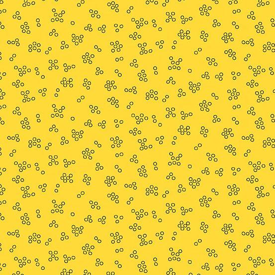 Andover Bumble Bee Basics Tiny Bubbles - Yellow