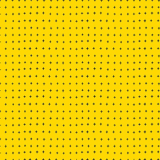 Andover Bumble Bee Basics Plus Signs - Yellow