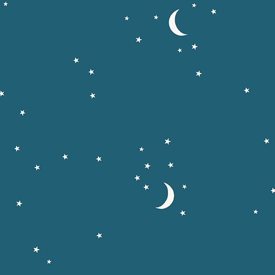Andover Moon and Stars - Teal Blue