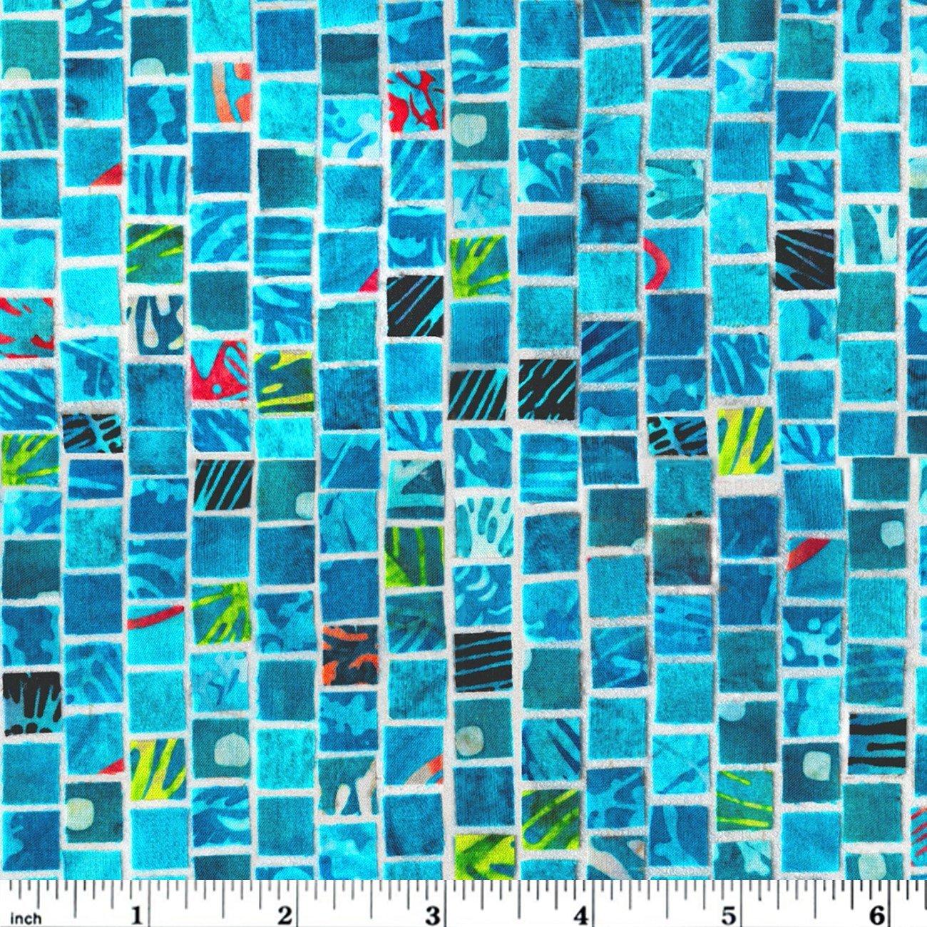 Hoffman Mosaic Masterpiece Digital - Aqua
