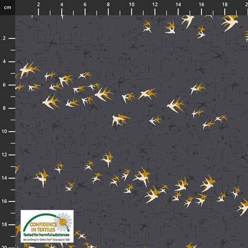 Stof Birds on the Move Flocking BIrds - Grey