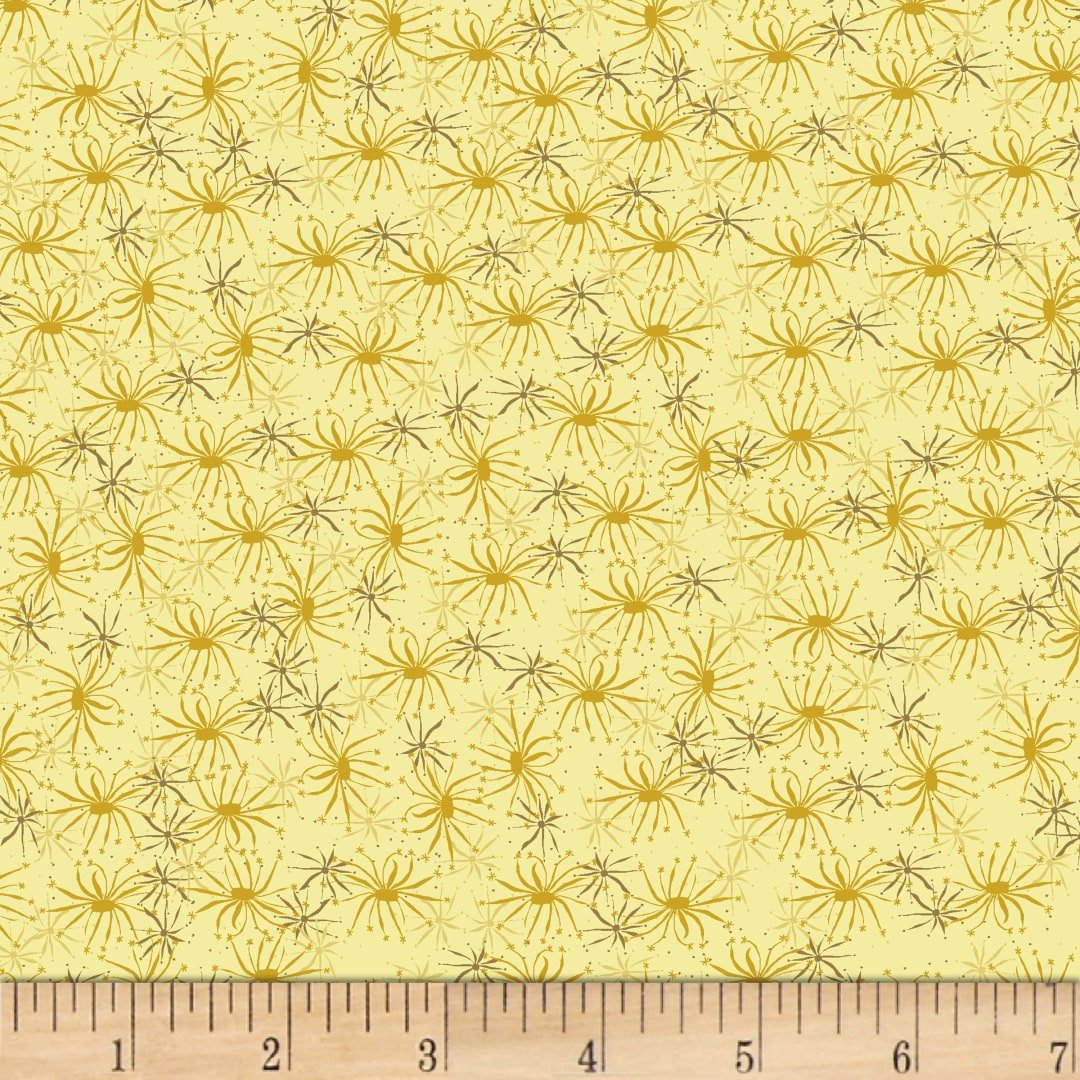 Stof Blooming Garden - Yellow (Min Order of 1m)