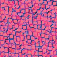 Wishwell by Robert Kaufman Bright Side Geometric - Azalea