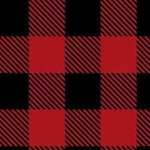 Camelot Buffalo Plaid Flannel - Red/Black (Minimum Order 1 metre)